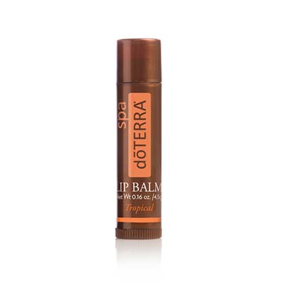 doTERRA SPA Tropical Lip Balm is a natural formula infused with CPTG® Celmentine, Distilled Lime, and Ylang Ylang essential oils to hydrate and soothe lips.